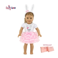 18-Inch Doll Clothes - Easter Bunny Costume Outfit with Ears and Tail - fits American Girl ® Dolls