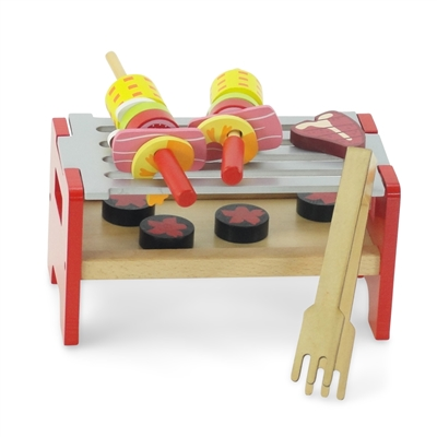 18-inch Doll Accessories - Wooden Camping Barbeque BBQ Grilling Set - fits American Girl ® Dolls