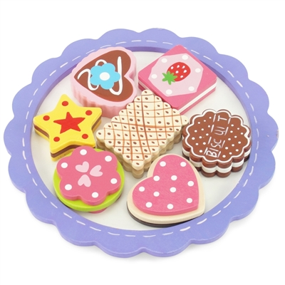 18-inch Doll Accessories - Wooden Cookie Tray with Assorted Colorful Cookies - fits American Girl ® Dolls