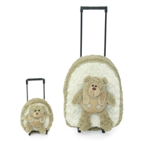 18-inch Doll Accessories - Girl and Doll Matching Backpack / Trolley Set with Detachable Teddy Bears - fits American Girl ® Dolls