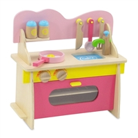 18-inch Doll Furniture - Multicolored Wooden Kitchen Set with Accessories - fits American Girl ® Dolls