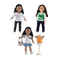18-Inch Doll Clothes - Clothing Outfits 3 Pack Casual Sets - fits American Girl ® Dolls