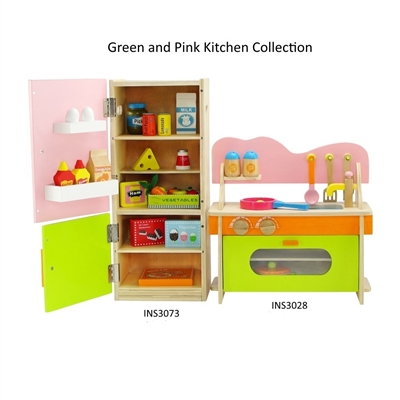 18-inch Doll Furniture - Multicolored Kitchen and Refrigerator/Freezer Set with Accessories - fits American Girl ® Dolls