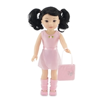 14-Inch Doll Clothes - Ballerina Practice Outfit with Pink Leotard, Skirt, Leggings, Dance Shoes and Handbag - fits Wellie Wishers ® Dolls