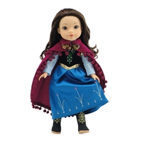 14-inch Doll Clothes - Princess Anna Inspired Dress with Boots - fits Wellie Wishers ® Dolls