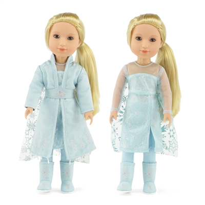 14-inch Doll Clothes - Princess Elsa Frozen 2 Inspired Dress Outfit - fits American Girl ® Dolls