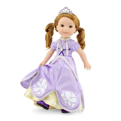 14 Inch Doll Clothes - Princess Sofia-Inspired Ball Gown and Accessories - fits Wellie Wishers ® Dolls