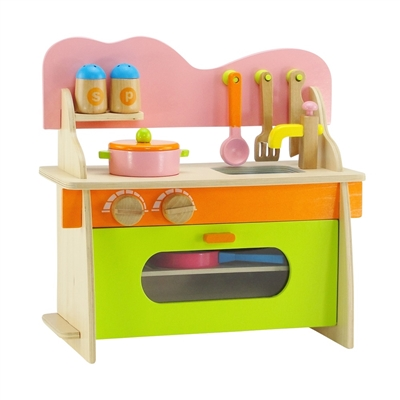 14-inch Doll Accessories - Kitchen Set with Oven, Stove, Sink and Accessories - fits American Girl ® Wellie Wishers Dolls