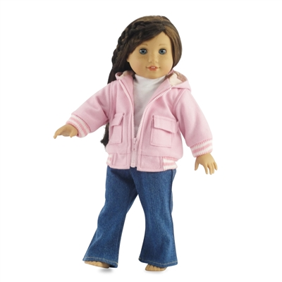 18-inch Doll Clothes - Varsity Jacket, Tee Shirt, and Boot-Cut Jeans - fits American Girl ® Dolls