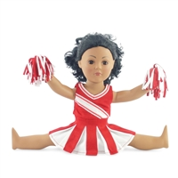 18-inch Doll Clothes - Cheerleader Dress with Pants and Pom Poms - fits American Girl ® Dolls