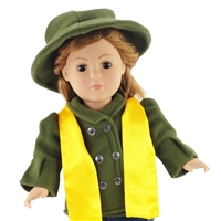 18-inch Doll Clothes - Winter Coat and Hat with Scarf - fits American Girl ® Dolls