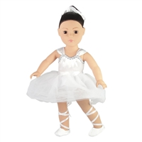 18-inch Doll Clothes - Ballet Leotard and Slippers with Hair Scrunchy - fits American Girl ® Dolls