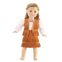 18-inch Doll Clothes - Cowgirl Vest, Skirt, and Shirt with Bow Tie - fits American Girl ® Dolls