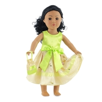 18-inch Doll Clothes - Satin Ruffles with Matching Purse - fits American Girl ® Dolls