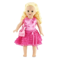 18-inch Doll Clothes - Ruffle Dress with Matching Belt - fits American Girl ® Dolls