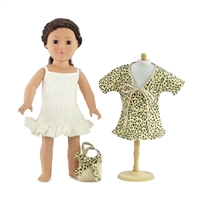 18-inch Doll Clothes - Movie Star Swim Suit Dress and Cover-Up with Bag - fits American Girl ® Dolls