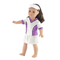 18-inch Doll Clothes - Tennis Top with Skirt and Visor - fits American Girl ® Dolls