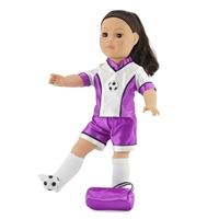 18-inch Doll Clothes - Soccer Shirt, Shorts, and Leggings with Gym Bag and Ball - fits American Girl ® Dolls