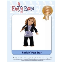 18-Inch Doll Clothes Pattern - Rockin' Pop Star - Downloaded to your computer