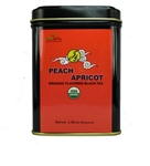 organic peach apricot tea tins
