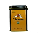 organic wild blueberry tea tins