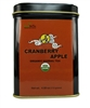 organic cranberry apple tea tins