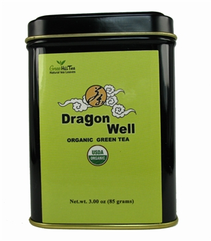 organic dragonwell lung ching tea tins