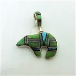 Varisite Channel Inlay Bear Pendant
