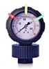 All Plastic Pressure Gauge with Isolator