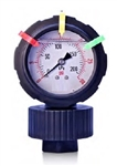 Pressure Gauge with Isolator, All Plastic