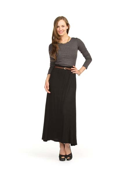 jersey skirt with braided belt style ps 1906