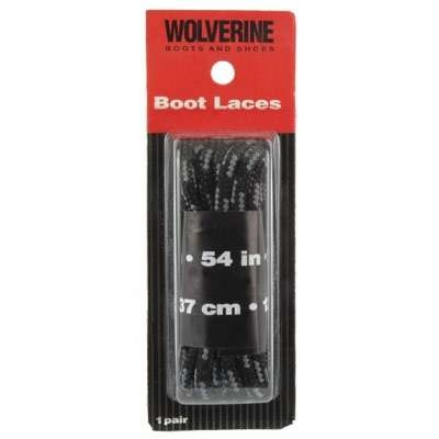 Wolverine 54 Inch Black Boot Laces