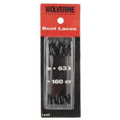 "Wolverine 63"" Black Boot Laces"
