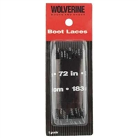 Wolverine 72 Inch Black Boot Laces