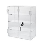 Acrylic Display Case w/ 3 Shelves