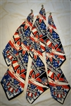 Red, White, & Blue Iron Cross Custom Belt Loop Flair Bandana Red on Black Rock and Roll Heavy Metal Biker accessories lifestyle Rock n Roll GangStar