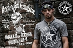 Balls Of Steel Tour 2014 Rock n Roll Heavy Metal Mens T-shirt Warm Gray