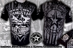 Rock-n-Roll GangStar Alliance Never Surrender Rock Heavy Metal T Shirt