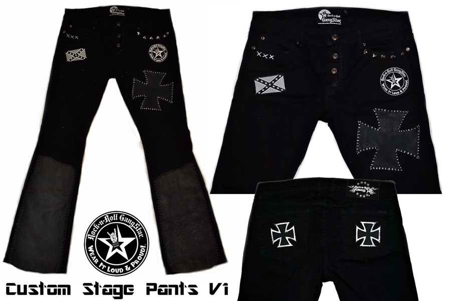Custom Stage Pants Iron Cross with leather & patch work ...