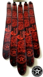 Wear It Loud & Proud! tm Red on Black Leather Guitar Strap rock and roll heavy metal guitar accessories