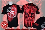 Wear It Loud & Proud! Stars & Stripes Mens T Shirt Black Rock n Roll Heavy Metal Biker clothing apparel accessories lifestyle Rock n Roll GangStar