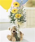 Flower and Plush Gift Basket