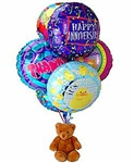 Balloon Bouquet with Plush