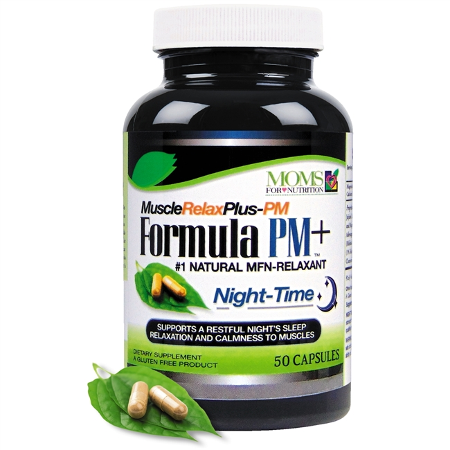 All Natural Muscle Relax Formula PM Plus - 50 Capsules - Advanced Nighttime Sleep Aid - Natural Relaxant