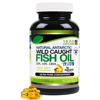 Wild Caught Natural DPA Fish Oil - Sustainable Omega 3 DPA-EPA-DHA 2,900 Milligram Fish Oil - Ultra Pure Triple Strength Concentrate - Burp-Less Soft-Gels