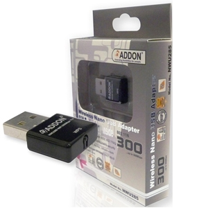 Addon 300Mbps Wireless Nano USB Adapter (NWU285v3)