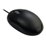 USB 1000dpi Optical Laptop Mouse Black