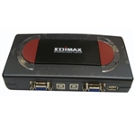 Edimax 4-Port USB KVM Switch with Cables  (EK-4USK)