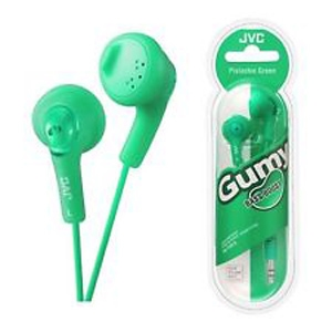 JVC Gumy Bass Boost Stereo In-Ear Headphones Green (HA-F160)