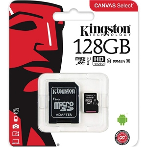 Kingston 128GB micro SDHC with Adapter Class 10 UHS-I (SDCS/128GB)